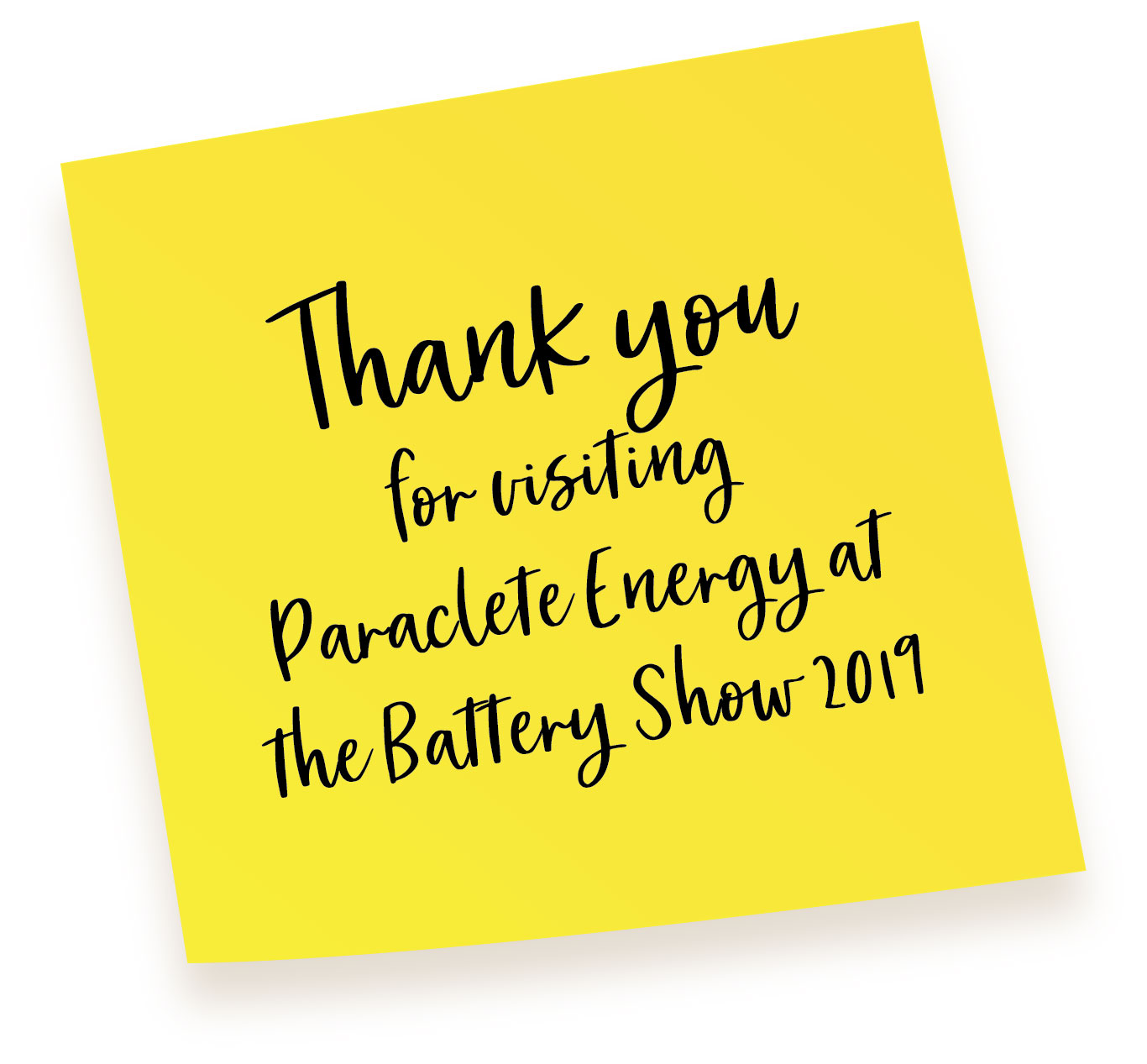 The Battery Show Thank You